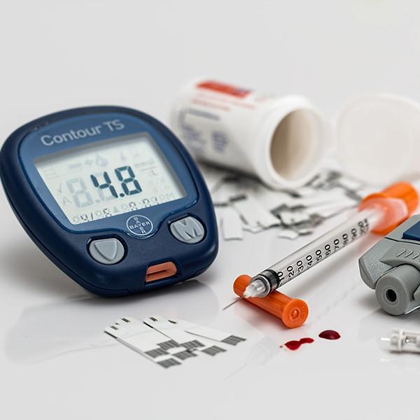 Blood sugar display on tester