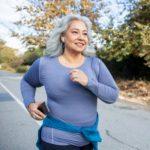 Heavy women running - difficulty of weight management.