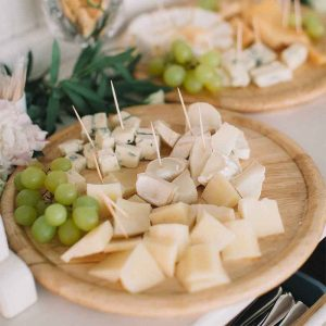 Platter of different cheese