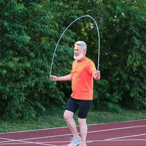 exercise benefits - cardio, man jumping rope